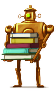 Robot Book Stack