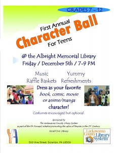 1st Annual Character Ball @ Albright Memorial Library | Scranton | Pennsylvania | United States