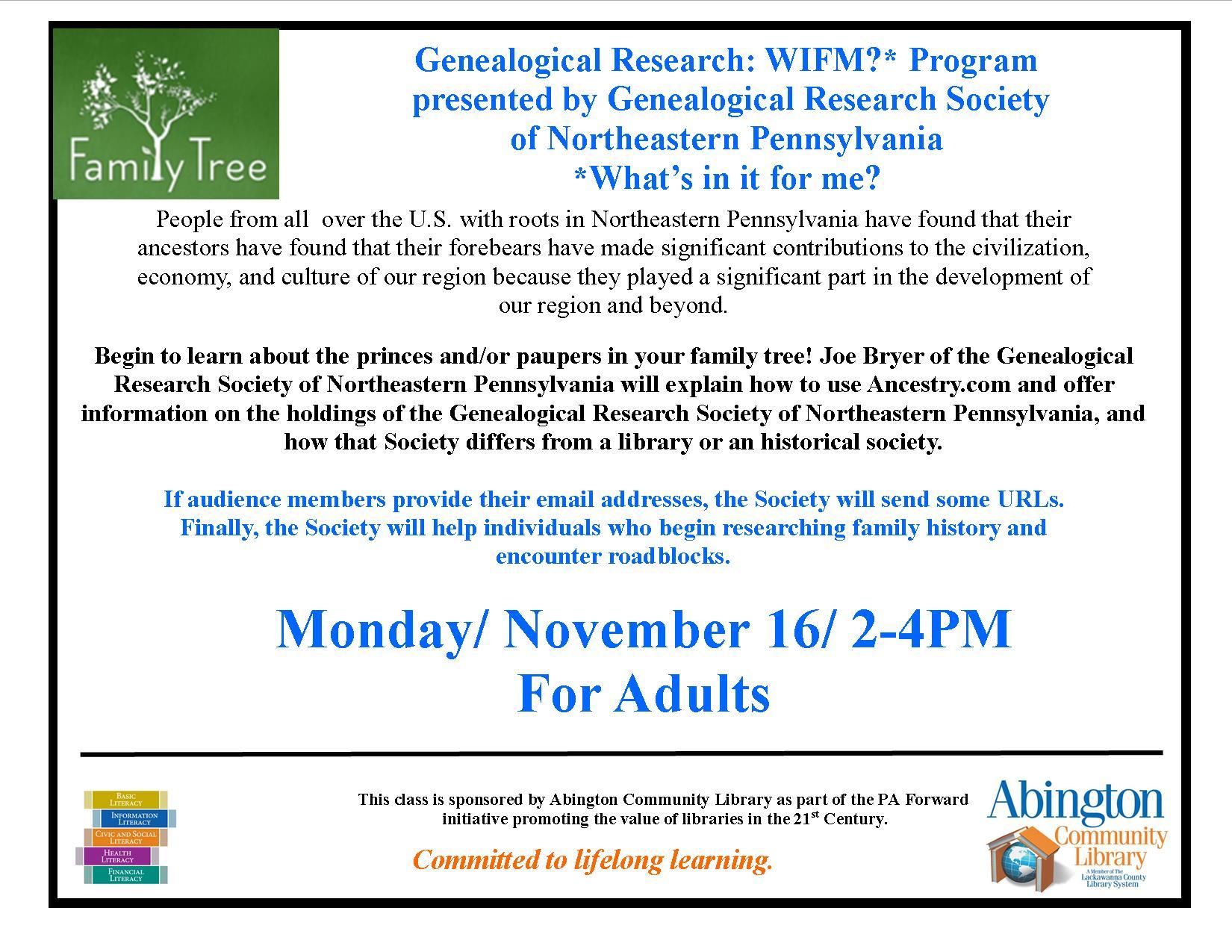 Genealogy Class_NEPA GenealogySociety_Nov 16