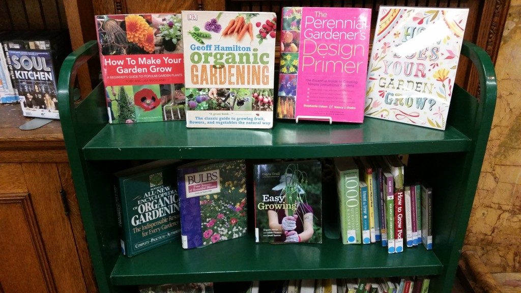 You can check out our collection of gardening books on display this month at the Albright Memorial Library.