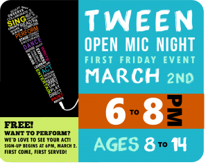 First Friday Tween Open Mic Night @ Lackawanna County Children's Library | Scranton | Pennsylvania | United States