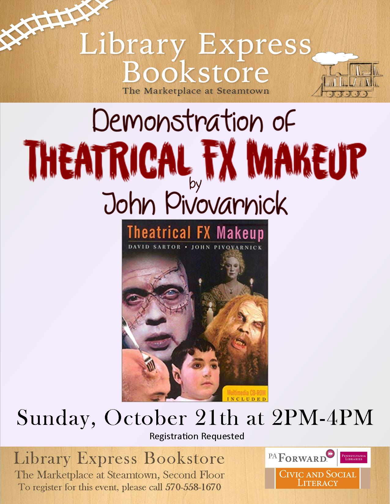 Theatrical FX Make-Up with John Pivovarnick