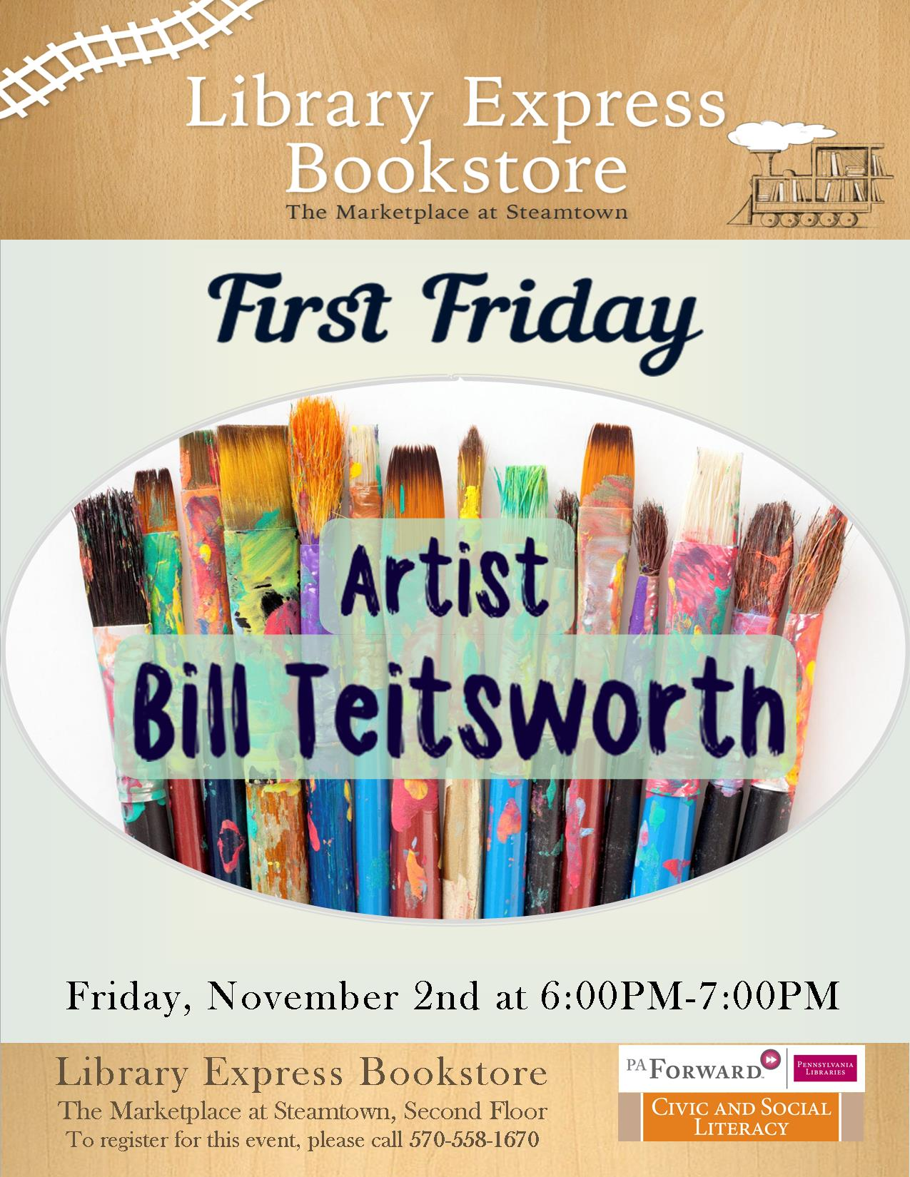 First Friday: Artist Bill Teitsworth