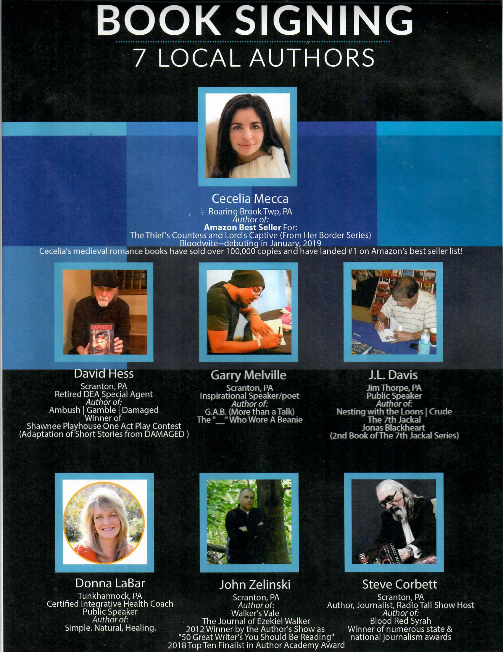 Seven Local Authors Book Signing